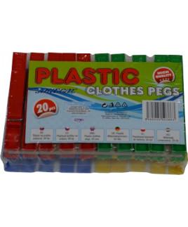 Štipce na prádlo plastové bal. 20 ks