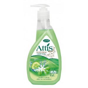 Attis tekuté mydlo s dávkovačom 400ml uhorka a oliva