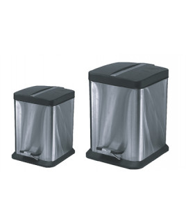Kôš odpadkový 12 L nerezový hranatý s pedálom