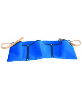 Kapsár okenný s remienkami modrý