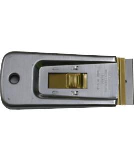 Škrabka 4 cm kovová bezpečnostná s nožom