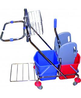 Vozík 2x17L s držiakom na vrece a košíkom Janegal economic