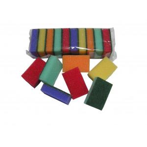Špongia 10 ks 8,1x5,1x2,5 cm bal. NEPOLEPENÁ