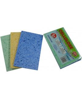Špongia celulózová 16,5 x 10 x 0,7cm 3ks v bal.