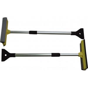 Stierka so špongiou 20cm a škrabkou s tel.tyč.75cm