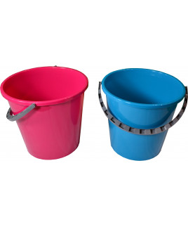 Vedro 10L EKO ružové s plastovou rúčkou