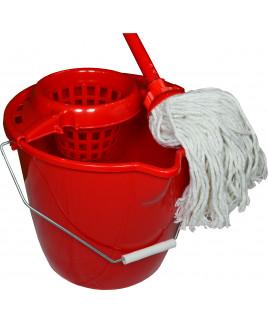WETmop set 12L IT OKRÚHLY červený s bavl. mopom 180 gr.
