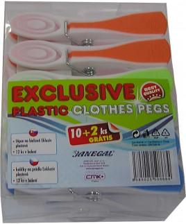 Štipce na prádlo Exkluzív 12 ks